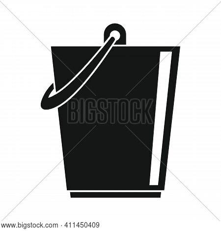 Storage Bucket Black Simple Icon. Vector Storage Bucket Black Simple Icon   Isolated On White Backgr