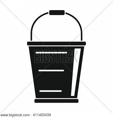 Bucket For Fruits Black Simple Icon. Vector Bucket For Fruits Black Simple Icon Isolated On White Ba