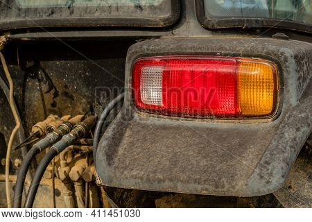 Right Rear Position Lamps (tail Lamps) On Fender Of Tractor