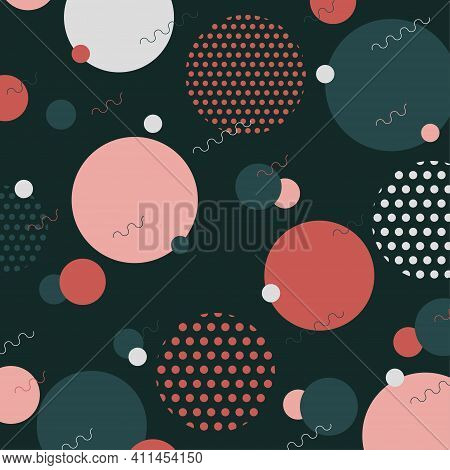 Abstract Geometric Style Of Pattern Artwork With Halftone Decorative Template. Overlapping With Clas