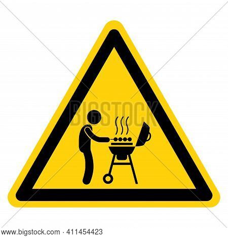 Bbq Barbeque Area Symbol Sign ,vector Illustration, Isolate On White Background Label. Eps10