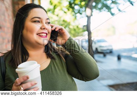 Portrait Of Young Plus Size Woman Talking