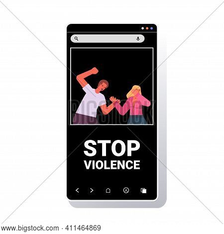 Angry Husband Punching And Hitting Wife Stop Domestic Violence And Aggression Against Women Smartpho