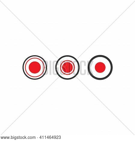 Black And Red Record Icons Set Podcast Button. Radio, Podcast Logo. Audio Message, Voice, Record, Sp