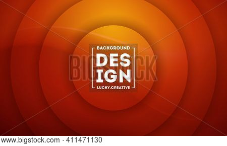 Symmetrical Brown Circles Background In Brown Color, Background Template Vector Illustration