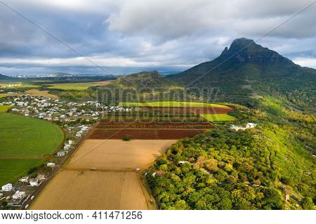 View From The Height Of The Sown Fields Located On The Island Of Mauritius