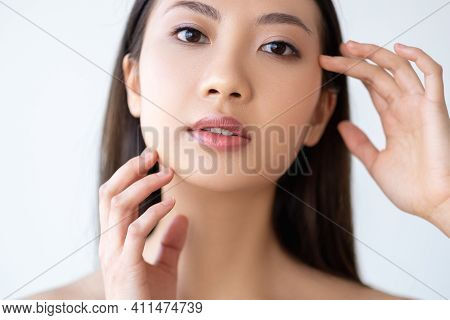Facial Care. Skin Rejuvenation. Collagen Therapy. Beauty Wellness. Portrait Of Asian Woman With Natu
