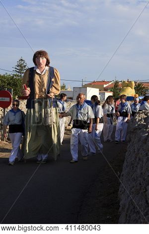 Sant Climent, Menorca / Spain - June 23, 2016: The Parade ´jaleo´ Traditional Festival In Sant Clime