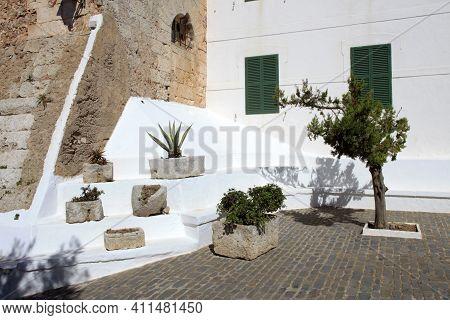 El Toro, Menorca / Spain - June 25, 2016: Sanctuary's Garden At Mount Toro (el Toro), Es Mercadal, M