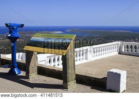 El Toro, Menorca / Spain - June 25, 2016: The Belvedere Of Mount Toro (el Toro), Es Mercadal, Menorc