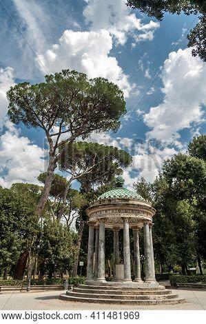 Diana Temple In Villa Borghese, Rome, Lazio, Italy.