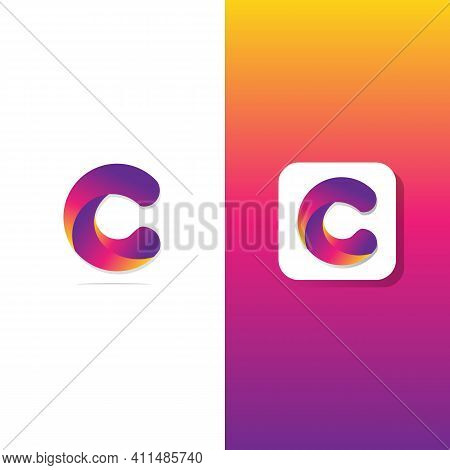 Abstract C Letter Logotype . Suitable For Trademarks, Company Logos, And Others. Vector Illustration