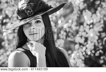 Witch Costume, Magic Concept, Illustration For Party Or Carnival, Mystical Fashionable Style