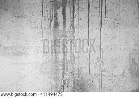 The White Concrete Stone. Concrete Plastered Stucco Wall Painted.. The Cement Wall Background Abstra