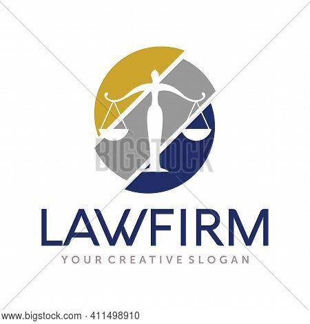 Lawyer Logo Design. Law Firm Logo Design Vector