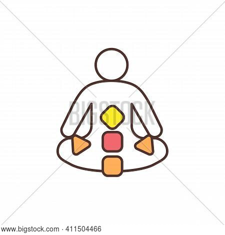Generator Rgb Color Icon. Human Design Type. Open, Inclusive Aura. Sacral Being. Creative, Energetic