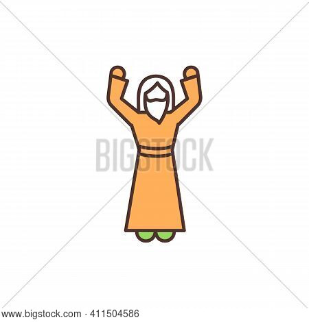 Religious Leader Rgb Color Icon. Religious Body. Faith Leader. Presiding Over Specific Rituals. Cler