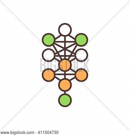 Molecules Rgb Color Icon. Chemical Bonds. Electrons Sharing, Exchange Among Atoms. Chemical Compound