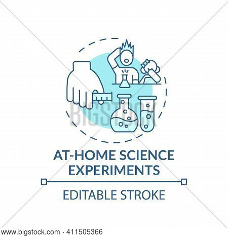 At Home Science Experiments Concept Icon. Family Fun Time Spending Ideas. Creating Intersting Projec