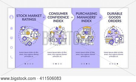 Consumer Confidence Index Onboarding Vector Template. Durable Goods Orders. Responsive Mobile Websit