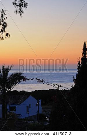 Mediterranean sunrise, Andalusia, Spain.