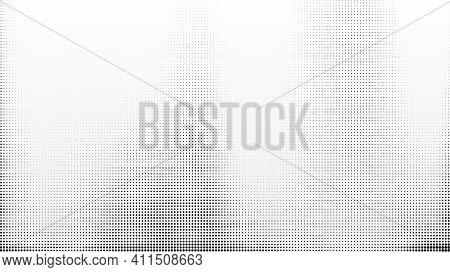 Halftone Grunge Background. Black Halftone Dots Vector Texture On White Background. Vector Illustrat