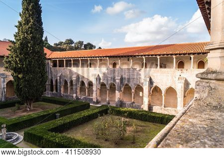 Batalha, Portugal- November 17 2014: The Cloister Of Catholic Monastery Of Batalha, Portugal