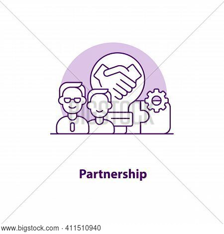 Partnership Creative Ui Concept Icon. Partnership For Marketing Design. Business Technology. Team Me