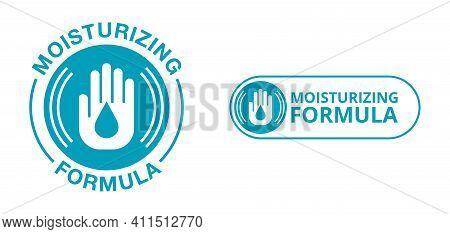 Skin Moisturizing Formula Circular Emblem - Anti-age And Anti Wrickles Cosmetics Marking - Water Dro
