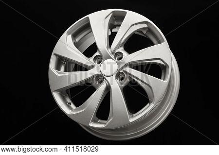 New Silver Aluminum Alloy Wheel Die Cast Disc Close Up