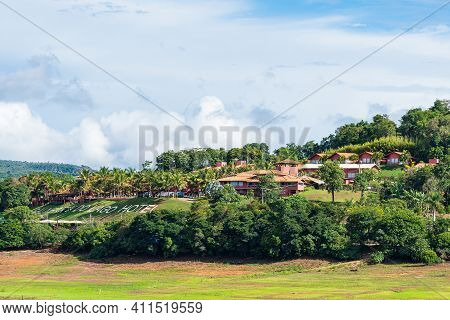 Capitólio - Mg, Brazil - December 09, 2020: Balneary Of The Lake Hotel, Balneário Do Lago Hotel In P