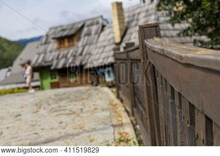 Drvengrad, Serbia- 18 September 2020: Kustendorf, Traditional Wooden Village Drvengrad Built By Emir
