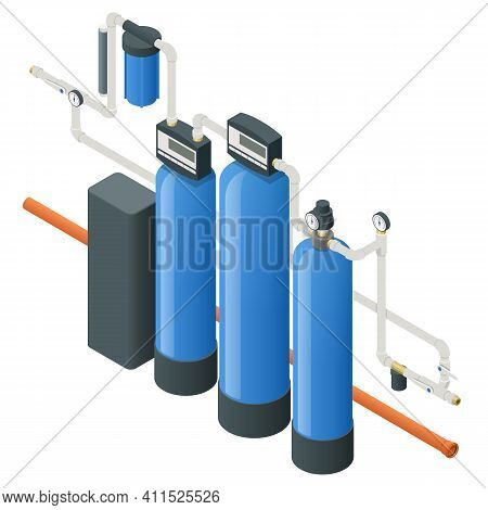 Isometric Reverse Osmosis Removes Contaminants From Unfiltered Water. Purification Of Drinking Water