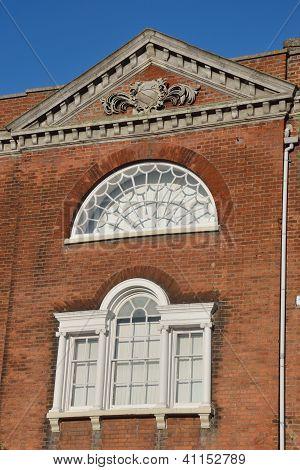 Georgian white windows with bricks