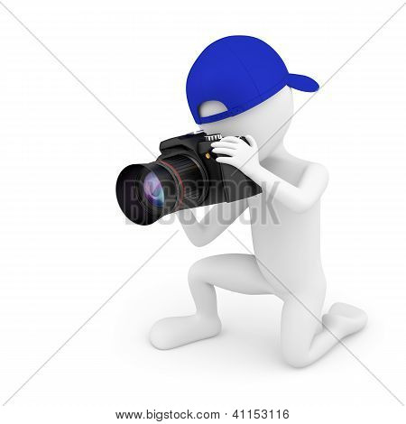 3D Small Person Photographer.