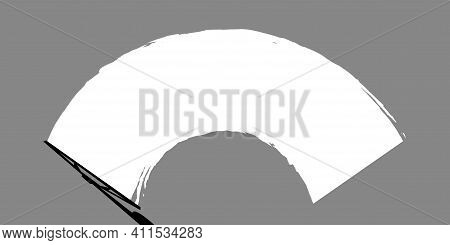 Windshield Wipers Clean The Windshield. Striped Style. Vector Illustration