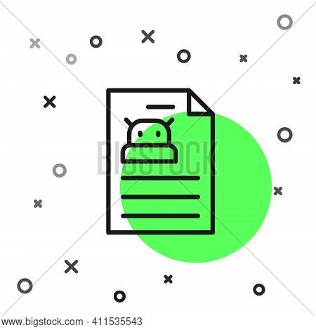 Black Line Technical Specification Icon Isolated On White Background. Technical Support Check List,