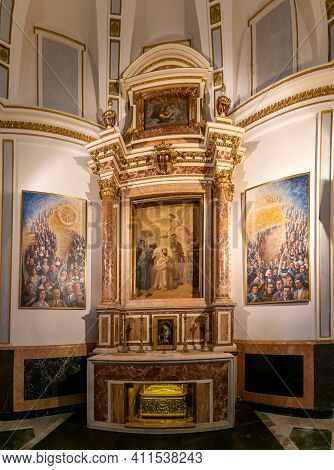 View Of The Chapel Of San Jacinto Maria Castaneda In The Valencia Cathedral