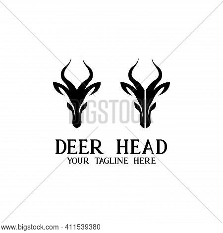 Deer Head Design Logo Vector. Illustration Deer Head Vector