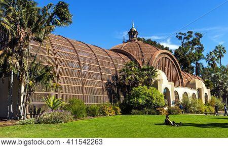 San Diego, Ca - November 13,2016:balboa Park Botanical Building In San Diego,california,united State