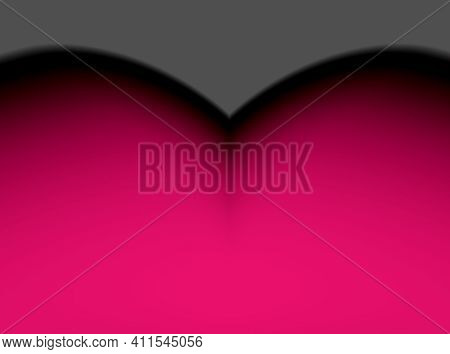 Abstract Advertising, Grey Pink Horizontal Arc, Gradient Background Dynamic Pattern Gradient Dynamic