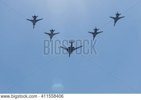 Moscow, June 24, 2020, Military Equipment In Moscow At The Victory Parade, Military Aviation, Air Pa