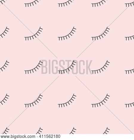 Abstract Seamless Eyes Pattern For Girls, Boys. Brows Creative Vector Pattern With Psychodelic Eyes.