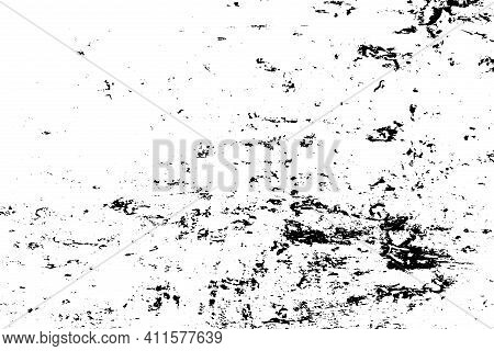 Distressed Black Overlay Texture. Grunge Dark Messy Background. Dirty Empty Cover Template. Ink Brus
