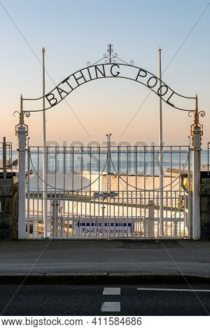 Entrance To Outdoor Swimming Baths Jubilee Pool In Penzance Cornwall