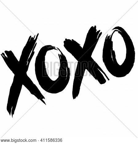 Xoxo Vector Fashion Image. Label With Glamour Xoxo. Vogue Beautiful Xoxo. Isolated Element On White