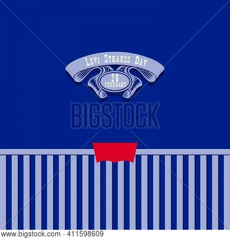 Banner Of Classic Denim Pants With Stitching For The Date Dedicated To Jeans In February