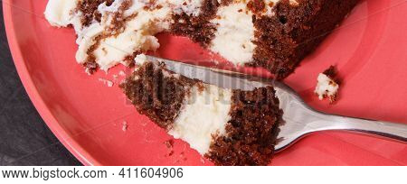 Fresh Creamy Cake For Different Occasions, Delicious Festive Dessert Concept