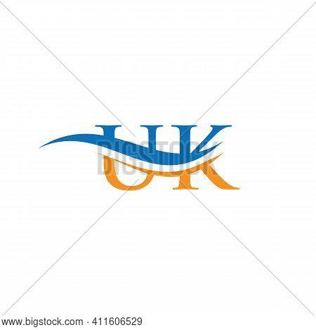Uk Letter Logo. Initial Uk Letter Business Logo Design Vector Template