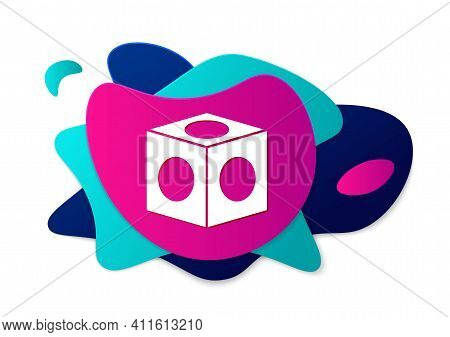 Color Billiard Chalk Icon Isolated On White Background. Chalk Block For Billiard Cue. Abstract Banne
